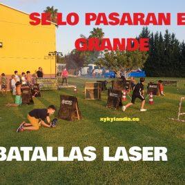 Campo batalla fortnite láser